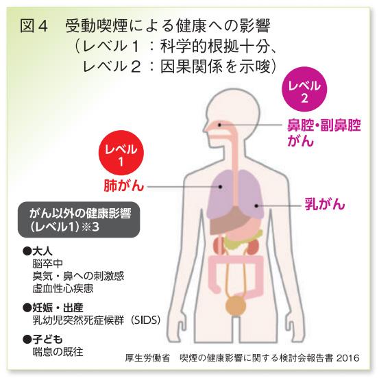 図4受動喫煙による健康への影響
